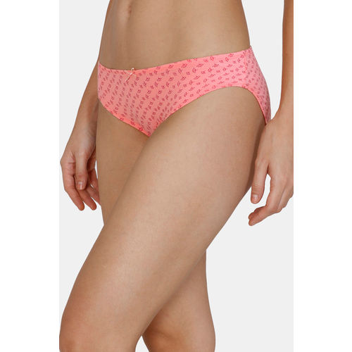 Zivame (Pack of 3) Bikini Low Rise Anti-Microbial Panty - Peach Red Glory