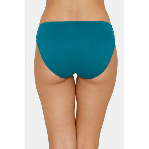 Zivame (Pack of 3) Bikini Low Rise Anti-Microbial Panty - Pacific Peach Blue