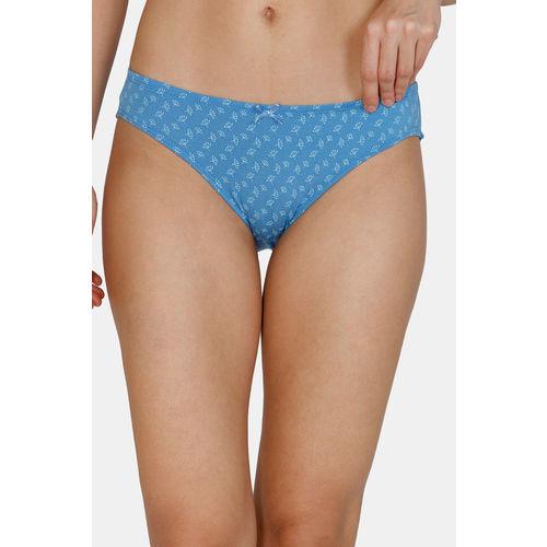 Zivame (Pack of 3) Bikini Low Rise Anti-Microbial Panty - Pacific Plum Blue