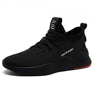 CLYMB  Black Mesh Lace Up  Sports Running Shoes