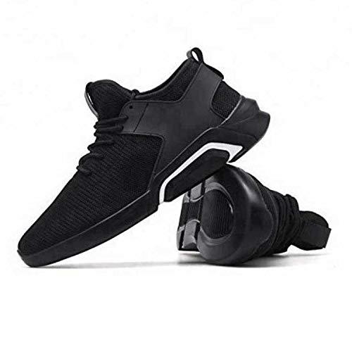 World Wear Footwear Black Lace Up Sports Shoes