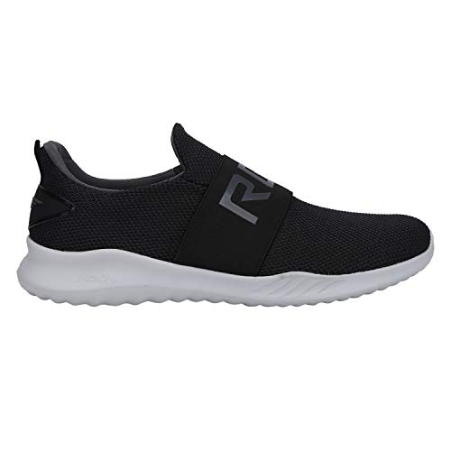 Red Tape Black Mesh Slip On Sports Shoes