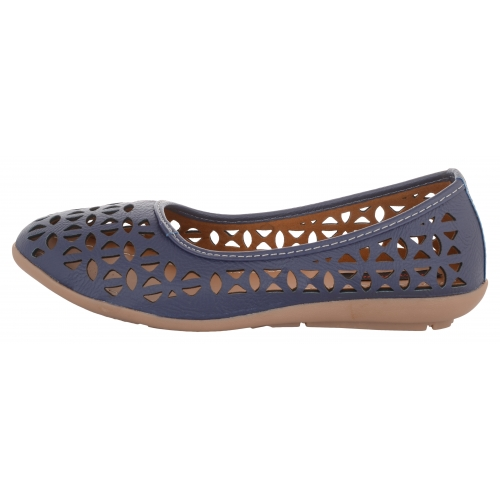 Exotique Blue Synthetic Laser Cut Bellies (EL0056BL)