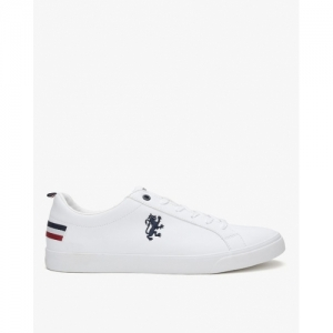 RED TAPE White Canvas Lace-Up Casual Shoes
