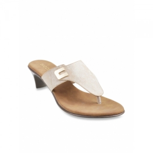 Mochi Beige Synthetic Thong Chappals