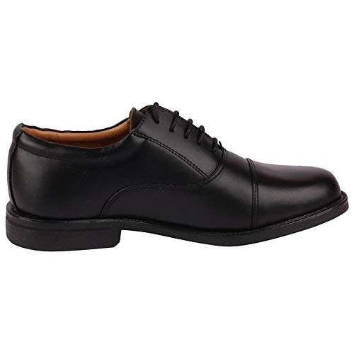 Bata Black Leather Lace Up Formal Shoes