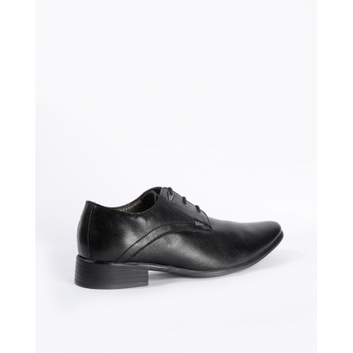 Lee Cooper Black Leather Lace Up Derby Shoes
