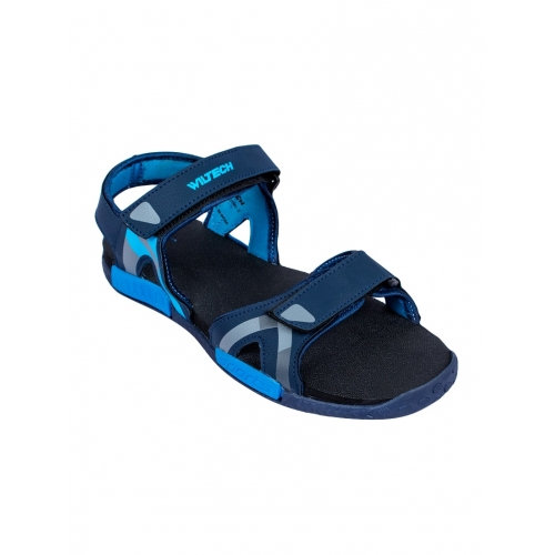 Asian Blue Synthetic Velcro floaters