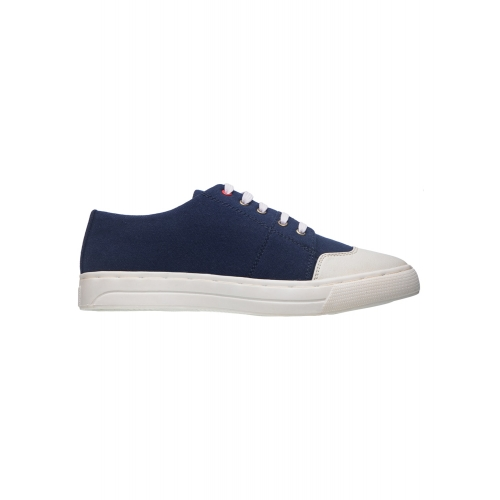 Khadims Navy Blue Canvas Lace Up Sneakers