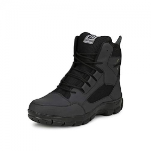 Eego Italy Black Genuine Leather High Ankle Boots