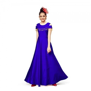 Fashion Dream Purple Satin Cold Shoulder Long Length Dress