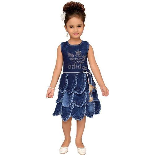 Aarika Blue Denim Sleeveless Dress