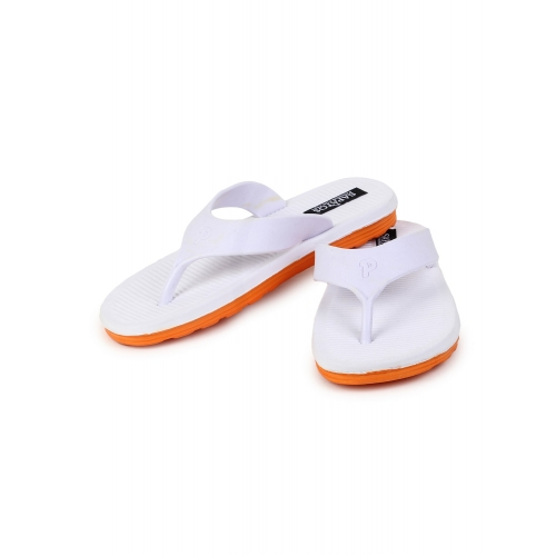 Sapatos White Rubber Solid Slip On Slippers