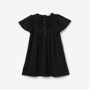 Bossini Black Polyester Solid Dress
