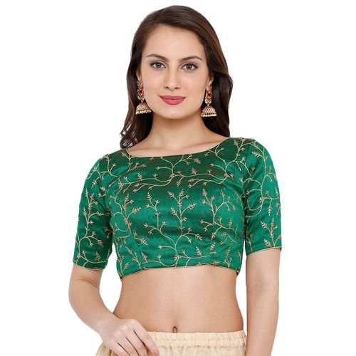 Salwar Studio back key hole embroidered blouse