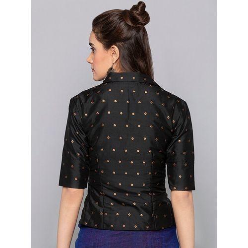 Desi Weavess solid shirt collar blouse