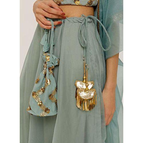 Diya Online Proud Pataka Sequins Emroidered Spegatti blouse Organza Lehenga Set