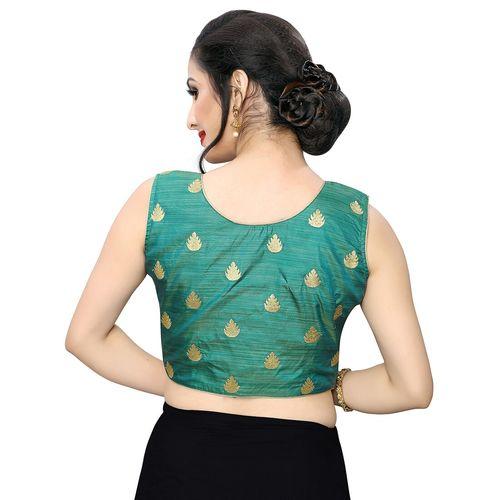 Adbhutam green embroidered blouse
