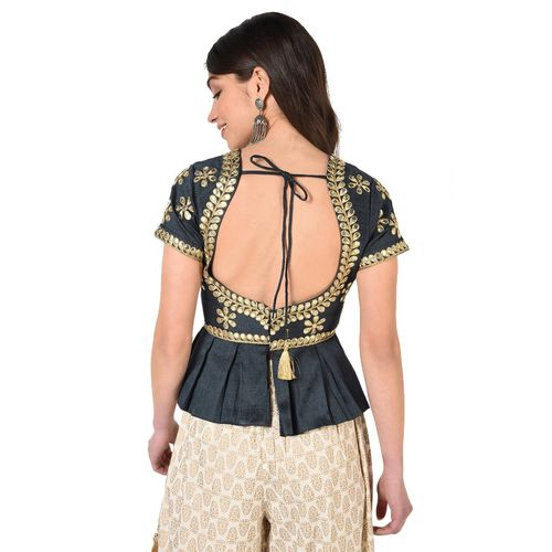 shaily self design gota work blouse