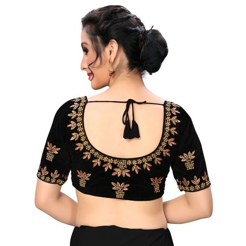 Kalp Fashion solid embroidered blouse