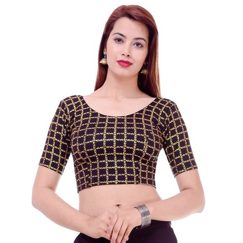 RIDHI SIDHI CREATIONS checkered printed blouse