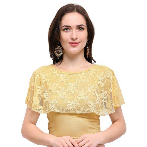 janasya gold cotton solid blouse