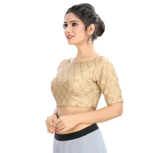 Salwar Studio gold embroidered blouse