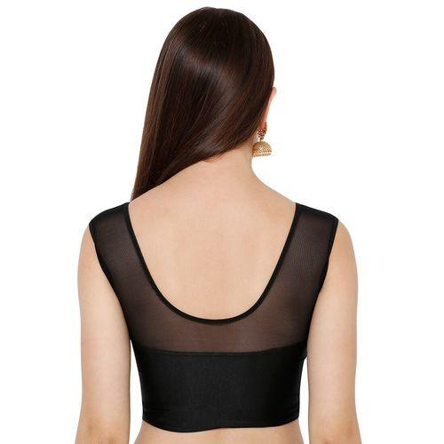 Salwar Studio net yoke plain blouse