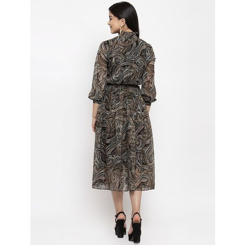 KASSUALLY grey polyester fit & flare dress