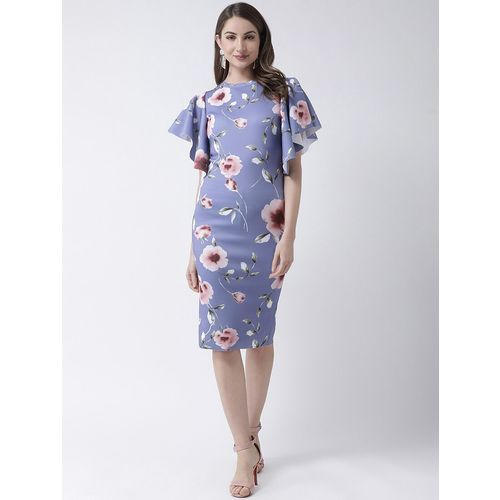 KASSUALLY ruffled sleeves floral bodycon dress