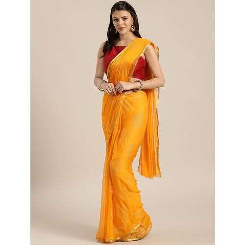 NEELAM FASHION solid bordered saree with blouse