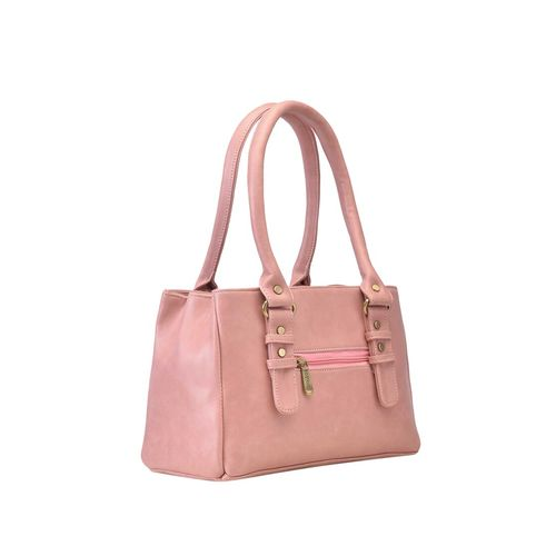 FOSTELO pink leatherette (pu) regular handbag
