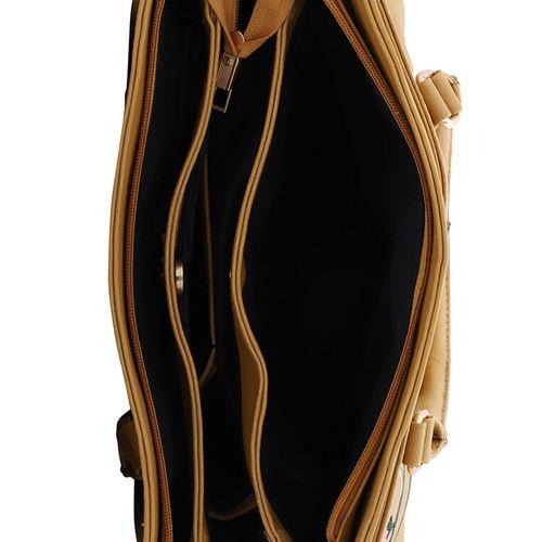 Lapis O Lupo yellow leatherette (pu) regular handbag