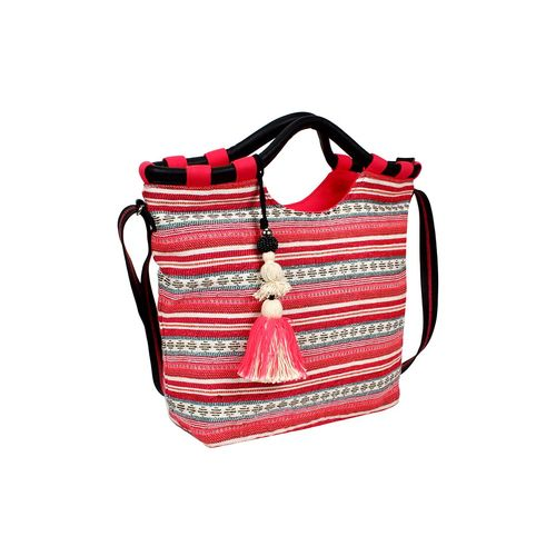 Anekaant pink cotton regular handbag