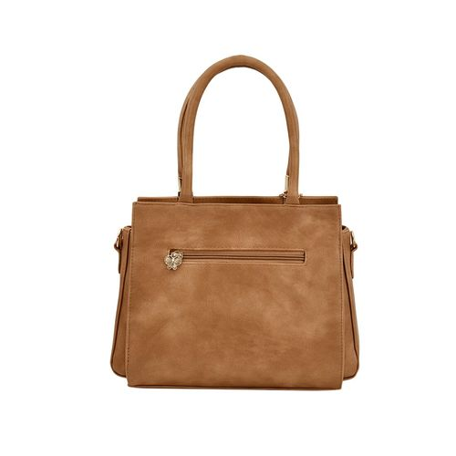 Butterflies brown leatherette (pu) regular handbag