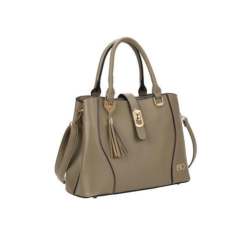 E2O grey leatherette (pu) regular handbag