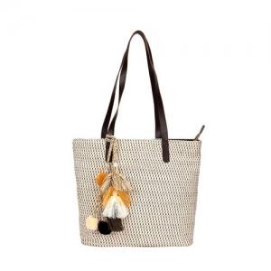 Anekaant neutral cotton polyester blend regular handbag