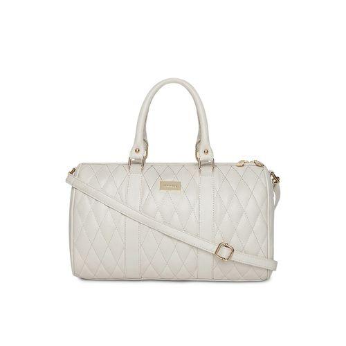 Kleio white leatherette (pu) regular handbag