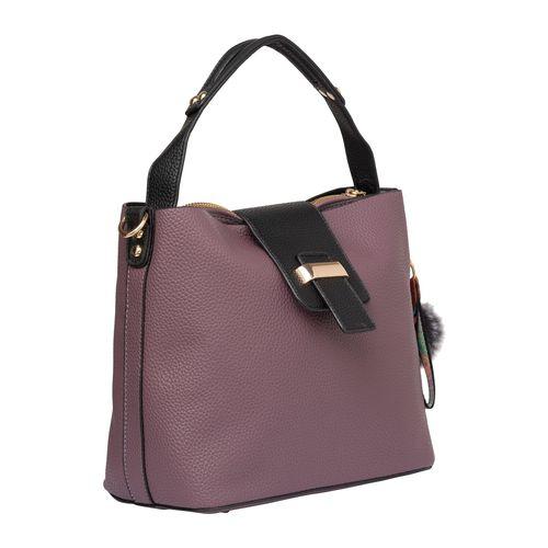 SATCHEL Bags purple leatherette (pu) regular handbag