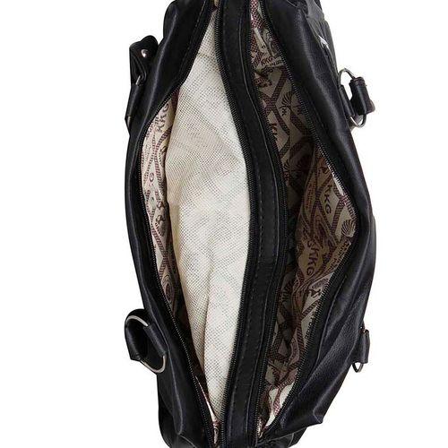 MAEVA black synthetic leather handbag