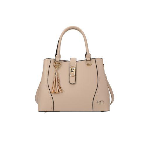 E2O pink leatherette (pu) regular handbag