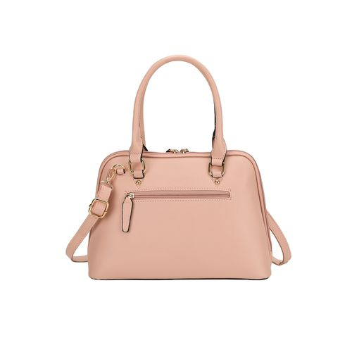 E2O pink leatherette (pu) regular handbag