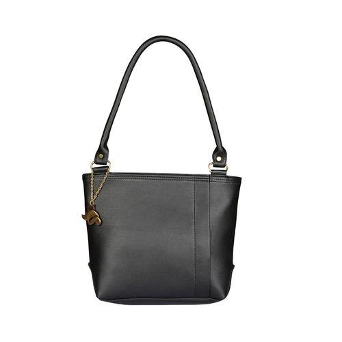 FOSTELO black leatherette regular handbag