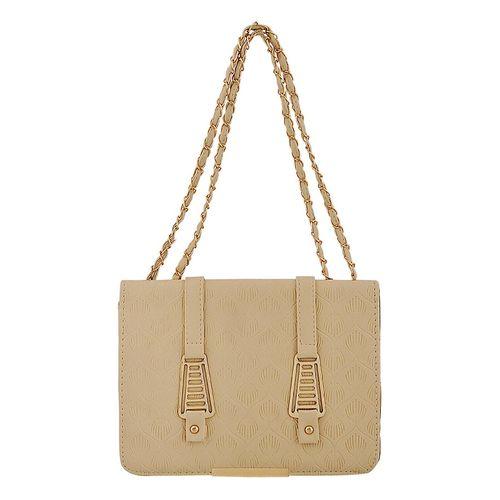 Mark & Keith beige leatherette (pu) regular handbag