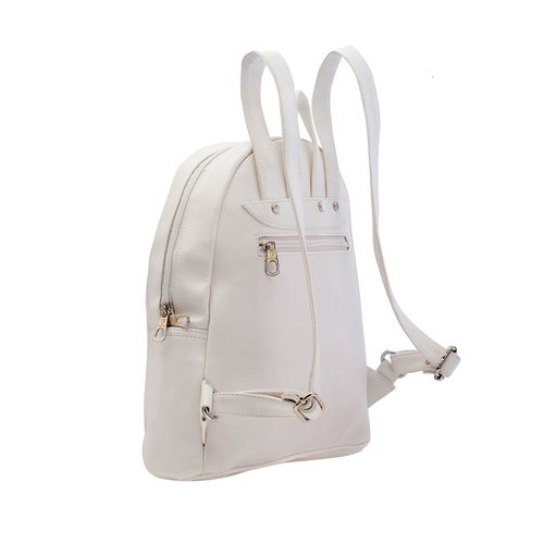FOSTELO white leatherette (pu) regular backpack
