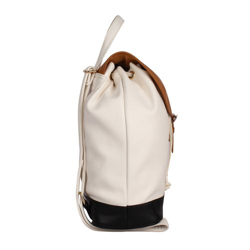 lychee bags white leatherette backpack
