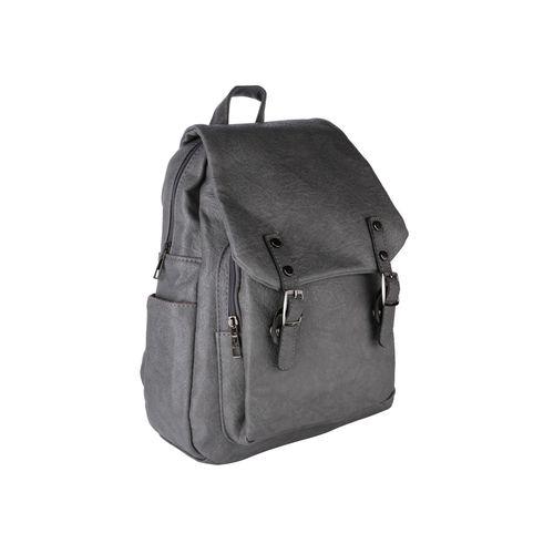 SATCHEL Bags grey leatherette (pu) regular backpack