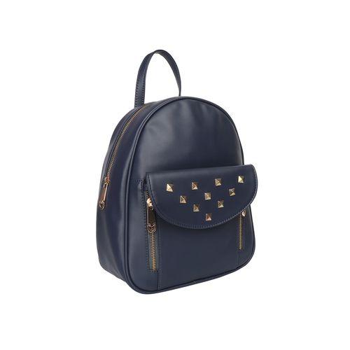 lychee bags blue leatherette (pu) fashion backpack