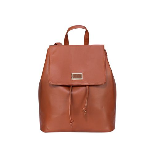 Old Tree tan leatherette fashion backpack
