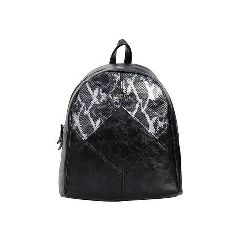 Esbeda black leatherette (pu) fashion backpack